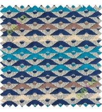 Blue brown white aztec polycotton sofa sofa upholstery