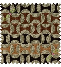Dark brown grey concave polycotton sofa sofa upholstery fabric