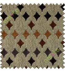 Dark brown grey geometric polycotton sofa sofa upholstery fabric