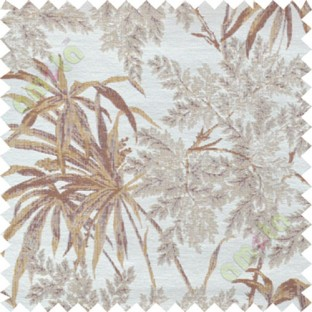 Brown yellow leaves poly main curtain designs