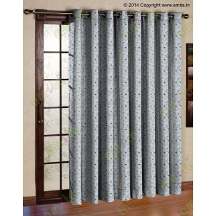 Brown white flying falcon poly main curtain designs