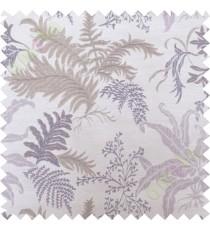 Brown purple cut floral poly main curtain designs