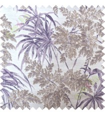 Purple brown leaves poly main curtain designs