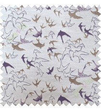 Purple brown flying falcon poly main curtain designs