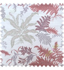 Red green cut floral poly main curtain designs