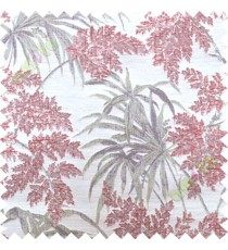 Red green leaves poly main curtain designs
