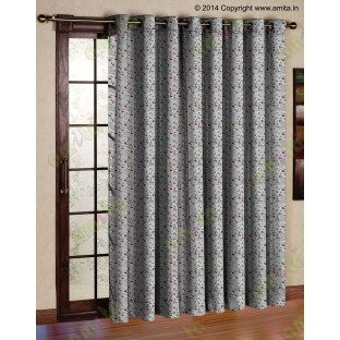Red grey flying falcon poly main curtain designs