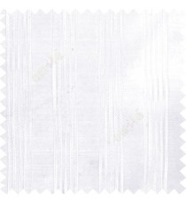Pure white color vertical soft texture thread stripes with transparent fabric poly sheer curtain