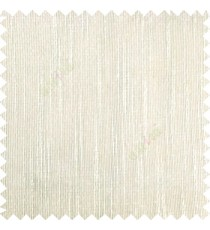 Cream color vertical chenille texture stripes with polyester transparent base fabric sheer curtain