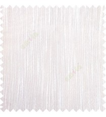 Pure white color vertical chenille texture stripes with polyester transparent base fabric sheer curtain