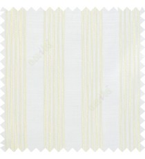 Ornamental embossed white pencil white lines on simmer white transparent sheer curtain