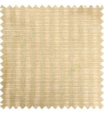 Brown beige color vertical bold weaving stripes horizontal support lines with texture polyester transparent base fabric sheer curtain
