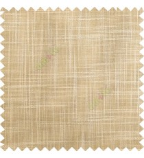 Light brown beige course jute finish horizontal and vertical lines with transparent background cotton finished polyester sheer curtain