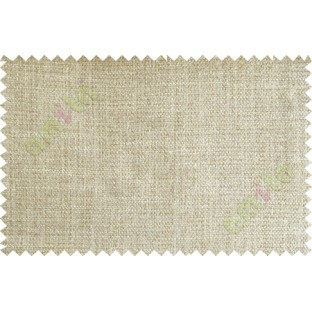 Beige Brown Natural Jute Finish Texture Poly Sofa Upholstery Fabric