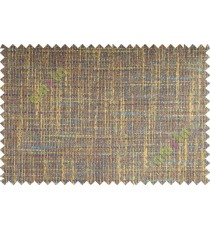 Blue Brown Grey Bold Weave Texture Poly Sofa Upholstery Fabric