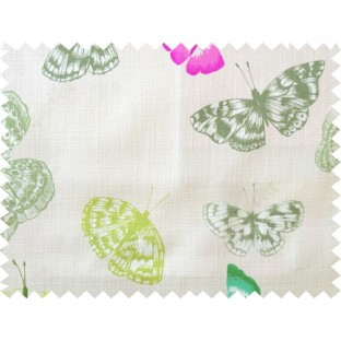 Blue white green butterfly cotton main curtain designs