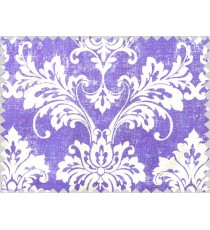White ink blue damask cotton main curtain designs