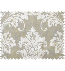 Beige brown damask cotton main curtain designs
