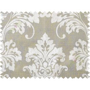 Beige brown damask cotton main curtain designs