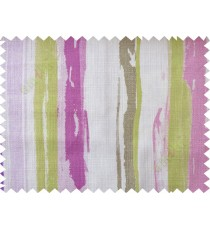 Pink green colourful vertical stripes cotton main curtain designs