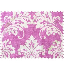 Pink white damask cotton main curtain designs