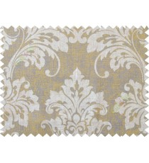 Yellow  grey damask cotton main curtain designs
