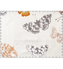 Brown white butterfly cotton main curtain designs