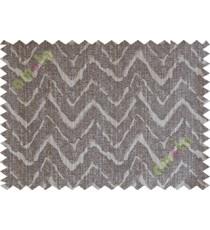 Grey brown wavy curve polycotton main curtain designs
