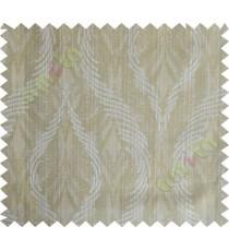 Khaki brown lines polycotton main curtain designs