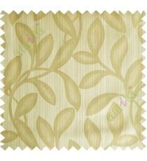 Khaki brown leafy polycotton main curtain designs
