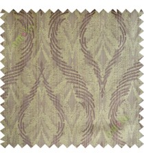 Brown yellow lines polycotton main curtain designs