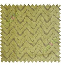 Brown green wavy curv polycotton main curtain designs