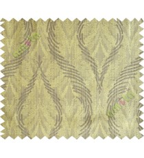 Brown green lines polycotton main curtain designs