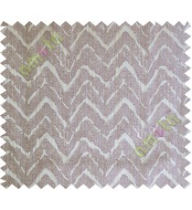 Grey purple wavy curv polycotton main curtain designs