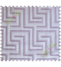 Purple grey joint pipes polycotton main curtain designs