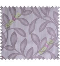 Grey purple leafy polycotton main curtain designs