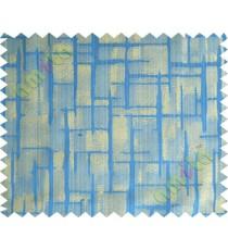Royal blue yellow candi texture polycotton main curtain designs