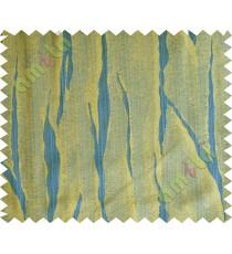 Royal blue yellow flowing candi polycotton main curtain designs