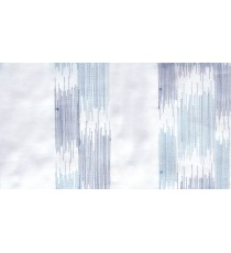 White blue embroidery vertical stripes poly sheer curtain designs