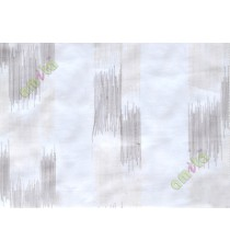 White brown embroidery vertical stripes poly sheer curtain designs