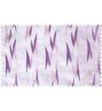 Cream purple embroidery zigzag contemporary poly sheer curtain designs