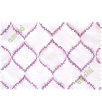 Cream purple fench embroidery poly sheer curtain designs
