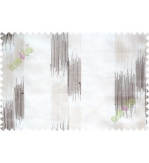 Black and white embroidery vertical stripes poly sheer curtain designs