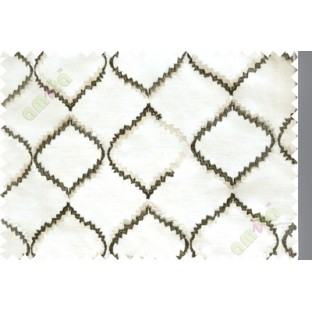 Black and white fench embroidery poly sheer curtain designs