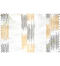 Black yellow beige embroidery vertical stripes poly sheer curtain designs