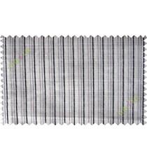 Brown grey beige vertical thread lines poly sheer curtain designs