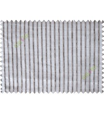 Brown grey vertical thread lines poly sheer curtain designs