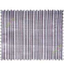 Grey brown vertical stripes poly main curtain designs