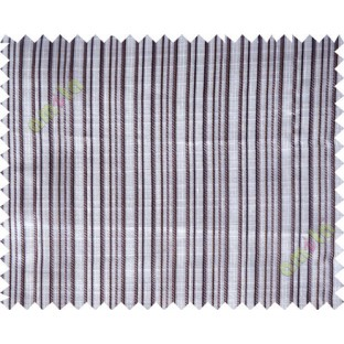 Grey brown vertical stripes poly main curtain designs