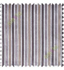 Brown grey main fabric stripes poly sheer curtain designs